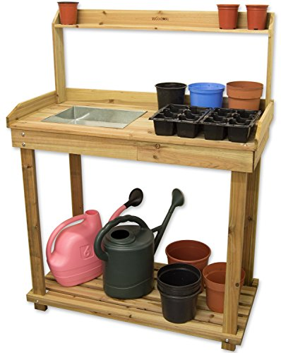 Woodside Wooden Potting/Planting Bench/Table Workshop Work DIY Station by