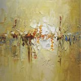 N / A Abstract Art Gold Mural Oil Painting Canvas Oil Painting Handmade Home Living Room Decoration Design Frameless 48x48cm