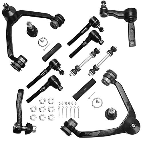 AUTOSAVER88 Front Control Arm Kit Compatible with 1997-2004 Ford Expedition/F-150/F-250, 1998-2002 Lincoln Navigator -14pcs Front Suspension Kit(4WD Only)