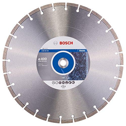 Bosch Professional Diamanttrennscheibe Standard für Stone, 400 x 20,00 und 25,40 x 3,2 x 10 mm, 2608602604
