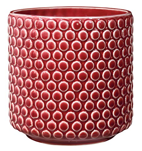 Bloomingville Macetero, rojo, cermica