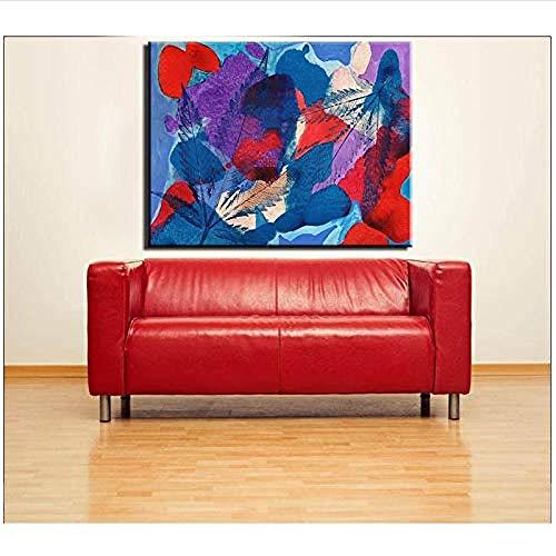 Canvas print,Prints schilderij Bladeren en kleur stuk canvas gedrukt Muurschildering voor huisdecoratie beste ideeën schilderij-40x60cm