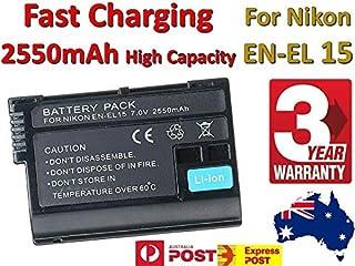 Timetech 2550mAh Battery for Nikon EN-EL15 Battery D7000 D7100 D800 D800E D600 Camera AU