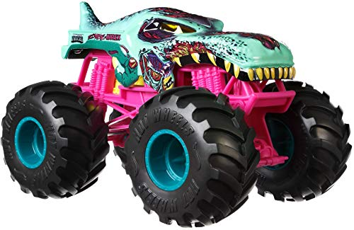 Hot Wheels Monster Trucks Zombie Wrex die-cast 1:24 Scale Vehicle with Giant Wheels for Kids Age 3 to 8 Years Old Great Gift Toy Trucks Large Scales