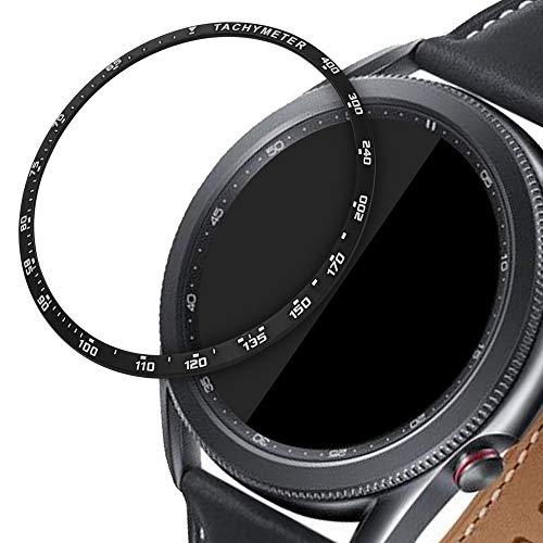 kwmobile Schutzring kompatibel mit Samsung Galaxy Watch 3 (45mm) - Bezel Ring Lünette mit Tachymeter Skala Schwarz