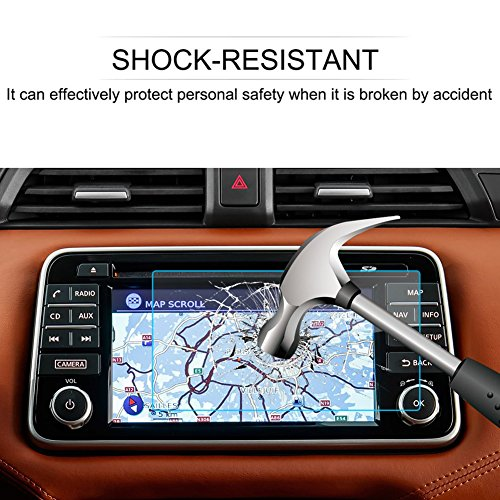 LFOTPP Nissan Micra K14 7 inch navigatie beschermfolie - 9H krasbestendig anti-vingerafdruk pantserglas displaybeschermfolie GPS Navi folie