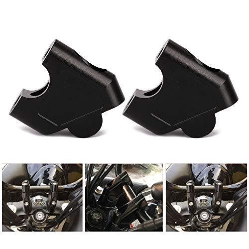 rehausseurs de Guidon pour Moto rehausseurs de Barre de Serrage pour 7/20,3 cm Guidon - 35 mm - surélevé pour Suzuki GSF 1250s 07-16,SV650 16-18,SV1000 03-07,Dl250/Bike 250 17-18,Gw250 S/F 13-17