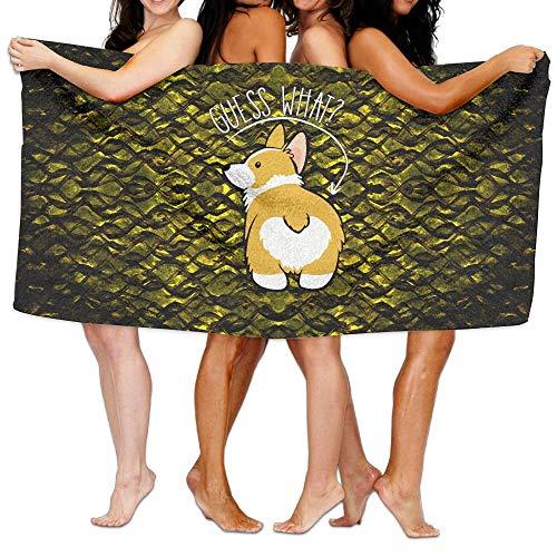 Unisex Guess What Corgi Butt Toallas de Playa Toallas de baño para niñas Adolescentes Toalla de Viaje