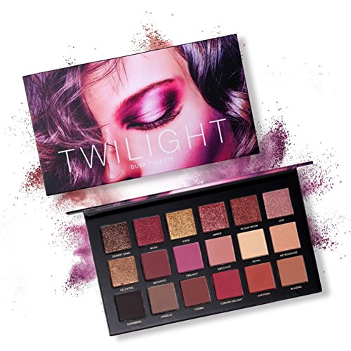 Paleta de sombras de ojos, Angmile Matte Eyeshadow Palette & Glitter Eyeshadow...