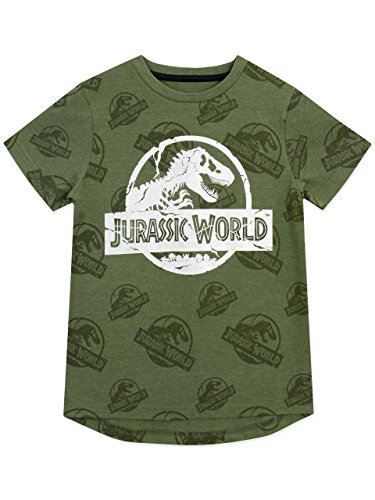 Jurassic World Camiseta niño Logo Verde 5-6 Años