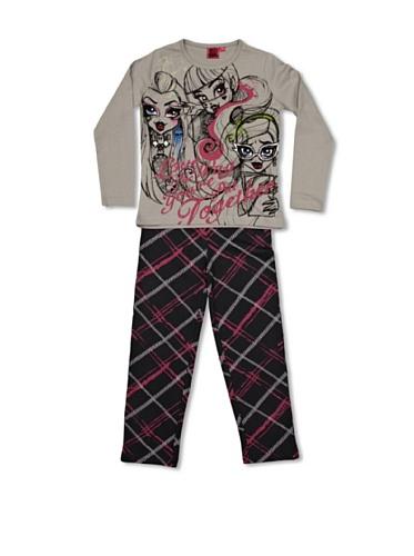 Monster High Pijama Gris/Negro 10 años (140 cm)