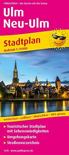 Ulm / Neu-Ulm: Touristischer Stadtplan mit Sehenswürdigkeiten und Straßenverzeichnis. 1:14000 (Stadtplan / SP)