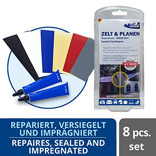 123repair Kit de réparation Tente chapiteau guitoune bâches Toiles