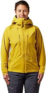 RAB Downpour Alpine Jacket - Womens, Sulphur, 10, QWF-72-SU-10