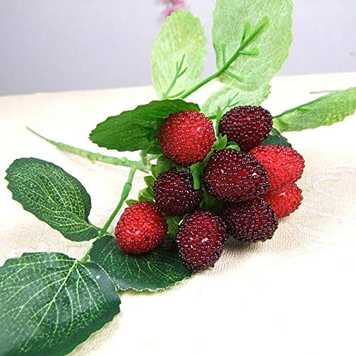 Artificial & Dried Flowers - 1 stuks Tempting Berry Leaf 9 Fruits Artificial Flowers DIY Home Office Garden Decoration B - Flowers Artificial Dried Artificial Dried Flowers Flower Plastic Ber 1