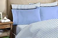 Homelux 1800 Series 4-Piece Bamboo Egyptian King Sheet Set with 2 Pillowcase, Light Blue