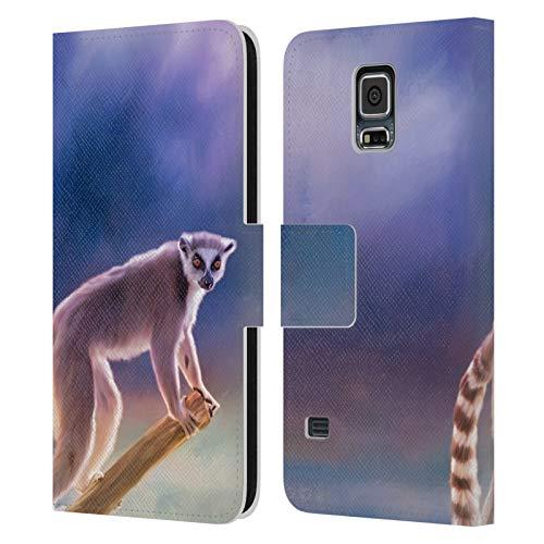 Ufficiale Simone Gatterwe Coda Ad Anello Comune Lemure Designs Assortiti Cover in Pelle a Portafoglio Compatibile con Samsung Galaxy S5 / S5 Neo