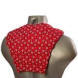 Cuscinetto ricurvo per collo e schiena, Cuore rosso - Cuscino termico cervicale con noccioli di ciliegia - Cuscino cervicale con parte schienale