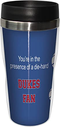 Tree-Free Greetings sg24693 Dukes College Basketball Sip 'N Go Stainless Steel Lined Travel Tumbler,  16 Ounce