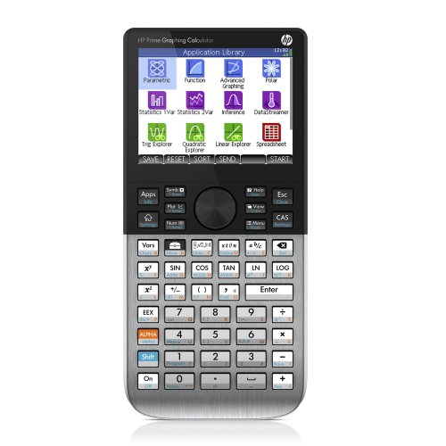 HP Prime Graphing Calculator - calculators (Desktop, Battery, Graphing calculator, Black, Silver, 400 MHz ARM, Buttons)