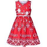 Sunny Fashion Vestido para niña Navidad Copos de Nieve Año Fiesta 4-5 años