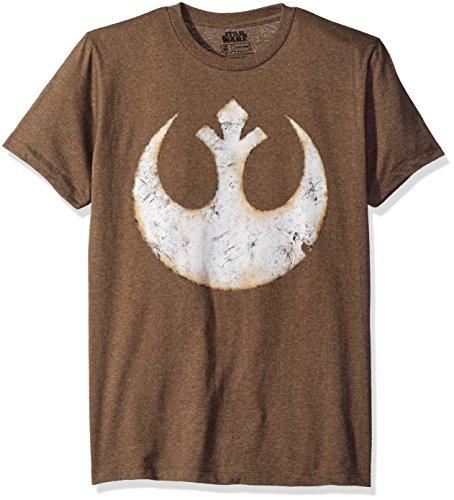 Alliance Emblem Symbol Graphic Logo T-shirt, Mocha Heather, Large