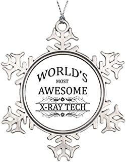 pansy Best Friend Snowflake Ornaments World's Most Awesome X-Ray Tech Christmas Home Decor