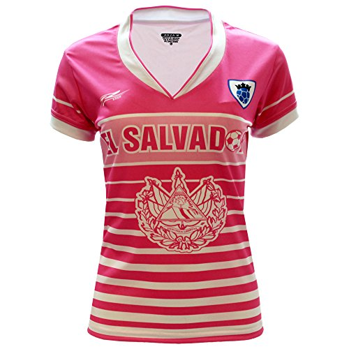 Arza Sports El Salvador Slim - Camiseta de fútbol para mujer - rosa - Small