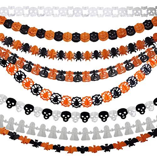 SUPVOX Pancarta Halloween Banner Halloween Guirnalda Halloween Halloween guirnaldas Halloween Props Decoraciones para Halloween 8Piezas