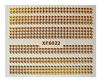 自己接着性ネイルアップリケモダンアートDIYゴールデンネイルアートステッカー (Color : 6022)