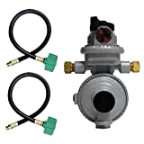 gas manifold propane - Fairview RV Camper LP Propane 2 Stage Automatic Regulator with 2 x 15 QCC Acme Pigtails