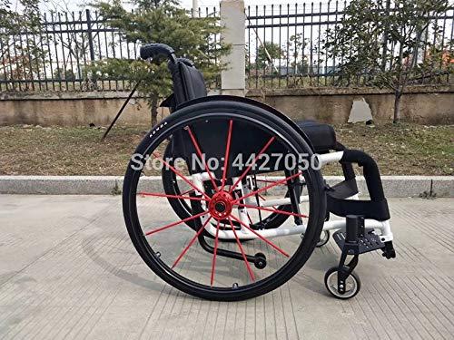 JINKEBIN Elettrico Sedia a rotelle Moda di buona qualità Manuale Pieghevole/Sport Sedia a rotelle Sedia a rotelle disabili Disabili (Color : White)