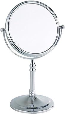 JJJJD 3X Magnifying Makeup Mirror, Bathroom Mirrors - 360 Degree Free Standing Dual Sided Vanity Mirror for Makeup Shaving,Ro