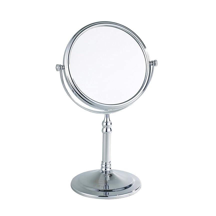 コットンタップ複雑3倍拡大鏡、バスルームミラー - 360度フリースタンディングデュアルサイド化粧鏡、化粧剃り用、ラウンド (Color : 33*15*12.5CM)