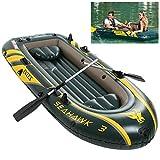Barca Hinchable Seahawk Portátil Bote Inflable PVC Duradero Kayak Hinchable Explorer Balsa para Rafting Gran Opción para Los Amantes de La Pesca o Los Deportes Al Aire Libre