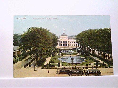 AK Wiesbaden, Neues Kurhaus und Bowling Green, Stadtbahn, Brunnen, Personen, Lichtdruck. Ungelaufen.