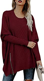GOLDSTITCH Women's Sweaters Oversized Batwing Pullover Loose Off The Shoulder Knit Jumper
