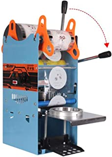 Hengwei 270W Electric Handheld Semi Automatic Bubble Tea Cup Sealing Machine Cup Sealer 300-500 Cups/hr for Coffee/Milk Tea Cup Smoothies Sealer