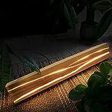 ZMH Holz Wandleuchte LED 8W Wandlampe innen Holz Nachtlampe Nachtlampe warmweiß für Schlafzimmer Flur Treppe Innenbeleuchtung - 8