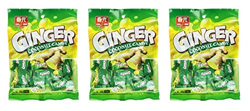 Chun Guang Ginger Coconut Candy, 5.6 Ounce (Pack of 3) from Chun Guang