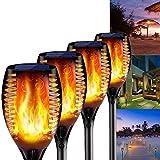 COOLEAD 4 Pcs Luces Solares Led Exterior Jardin,Antorcha Led,IP65...