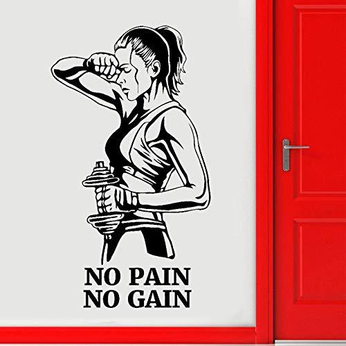 mlpnko Gym Wandaufkleber Vinyl Aufkleber Gym Raumdekor Fitness Poster Selbstklebende Tapete, 57x100cm
