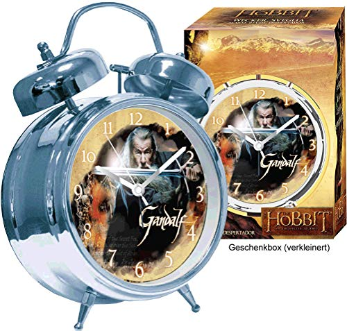 JOY TOY - Hobbit 33909 - Gandalf Wecker in Geschenkpackung, 12 x 6 x 18 cm