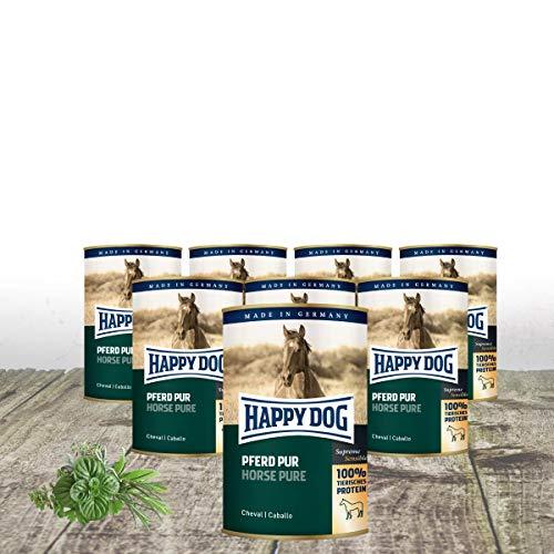 Happy Dog - Dose Pferd PUR 10 x 400 g + 2 gratis