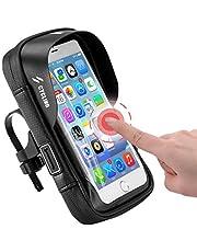 自転車 スマホホルダー バイク 携帯ホルダー 撥水 防塵 360度回転 各種スマホ対応