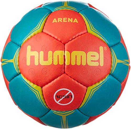 Hummel Erwachsene Arena Handball, Nasturtium/Viridian/Yellow, 2
