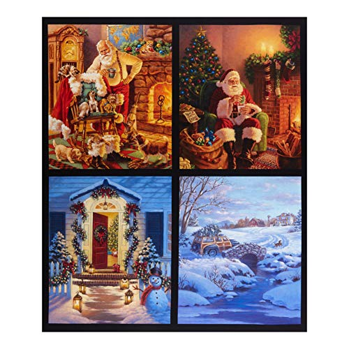 Riley Blake Designs A Christmas Classic Panel Pillow 36in Panel Multi Quilt Fabric