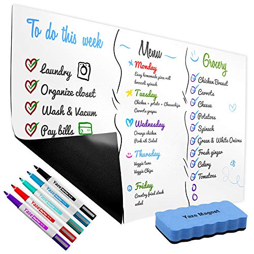 Magnetic Dry Erase Whiteboard Sheet for Kitchen Fridge