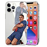 MIM Global Football Futbol Soccer Protectores Case Cover Compatible para Todos iPhone (iPhone 6/6s, Mbappe Celeb)