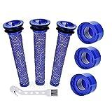 Artraise - Juego de 6 filtros de vacío para aspiradora Dyson V7, V8 Animal Absolute sin cables, 3 filtros HEPA, 3 prefiltros, sustituye a la parte # 965661-01 & 967478-01
